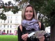 Public euro babe flashes for cash
