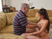 Jeleana Marie loves fucking with 2 old men