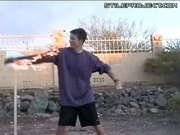 Fire Arm Stunt Epic Fail - Lights his arm on fire fail!