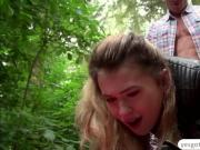 Misha Cross shares outdoor sex with a stranger