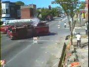 Fire Trucks Crash