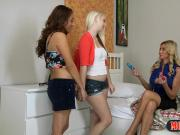 Stepmom shows two teens how to properly use vibrators