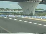 Beer Truck Freeway Accident