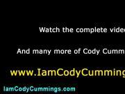 Cody Cummings tugs cock shoots load