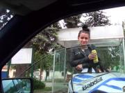 Pretty amateur teen nailed in the car