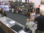 Busty Latina pawns her pussy and fucked at the pawnshop