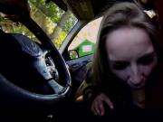 Beautiful babe Staci Carr wet pussy fucked in the car