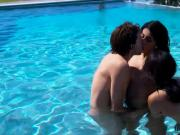 Maya Bijou takes an outdoor threesome with Sophia Leone