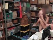 Shoplifter Brooke Bliss Sucking Desk Long Dong