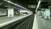 Parkour Flip Over Subway Tracks