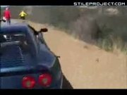 Viper GTS flies off a cliff