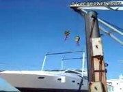 yacht crane FAIL!