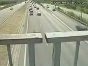 Highway Crash Caught On Tape