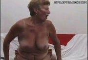 Slutty Grandma Riding Cock