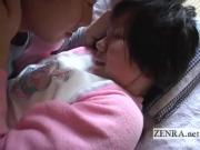 Innocent Japanese schoolgirl licked all over English subtitles