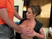 Housewife Eva Notty Fucks Hunky Repairman In Her Office