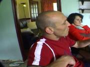 Amateur swingers are filmed with each others wives