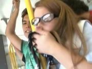 White Coed vs Pervs in a Tokyo Bus!