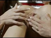 Giant lesbian anal rimming orgy