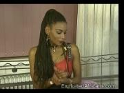 Naughty African slut fistfucks a beautiful brunette babe