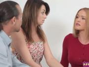 Step dad returns the favor eats and finger fuck her ass
