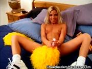 Hot Cheerleader Takes a Cock