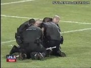 Soccer Field Brawl With Security