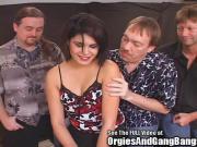 Gothy Brunette Blow Bang Bukkake