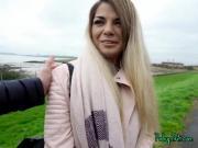 College Babe Bella Scaris Sucks Cock For Cash
