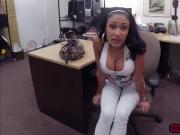 Busty Latina babe gets pussy banged in the pawnshop