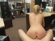 Sweet blondie babe gets pussy nailed by nasty pawn man