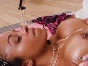 Flexible busty tranny fucks to gets nirvana