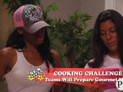 Superb hotties enjoyed cooking challenge in this episode