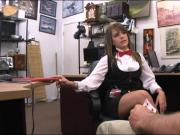Pretty babe banged by nasty pawn keeper at the pawnshop