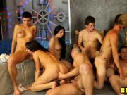 Bisex studs ride cock in bi orgy