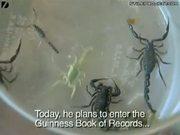 Man Eats 22 Live Scorpions
