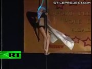 Epic Pole Dance FAIL!