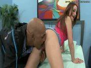 Slim teen gets huge black dick inside her