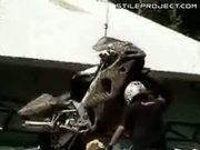 Epic Fail - Motorcycle Ramp Jump Leg Break