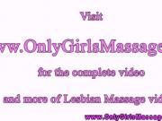 Lesbian clients closeup oral at massage
