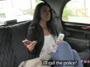 Uk beauty bangs in fake taxi