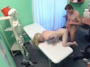 Pale tattooed blonde bangs doctor