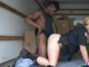 Lucky black villain fucks amazing blonde cougar police officer