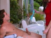 Big butt Nickey Huntsman having sex with nerdy handsome dude