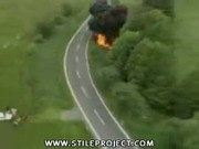 car explodes while driving on highway