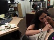 Sexy ass Brazilian MILF accepts cash in the pawnshop for a great fucked