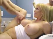 Huge cock dude bangs busty stepmom