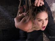 Slave made to cum in extreme hogtie