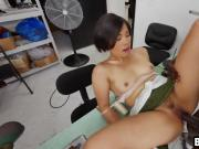 Sexy Asian tailor is ready to make up to a customer with her wet pink pussy