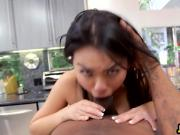 Hot interracial POV deepthroat and fucking with Asian